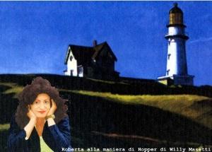Roberta alla maniera di Edward Hopper, foto di Willy Masetti