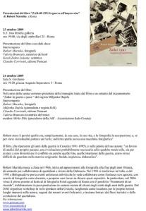 Rober Marnika e il suo libro fotografico