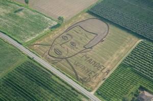 Performance di Land Art di Dario Gambarin