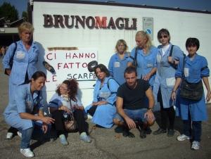 Le operaie della Bruno magli : foto di Roberta Ricci