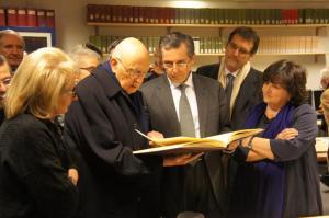 Il Presidente Napolitano a Bologna, all'istituto Gramsci