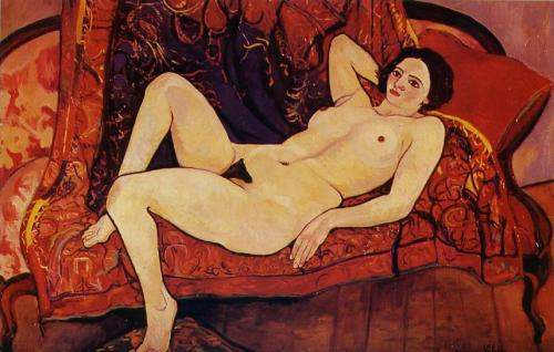 Suzanne-Valadon-Nude-on-the-sofa