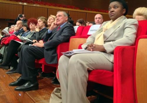 Pietro Grasso e Cecile Kyenge