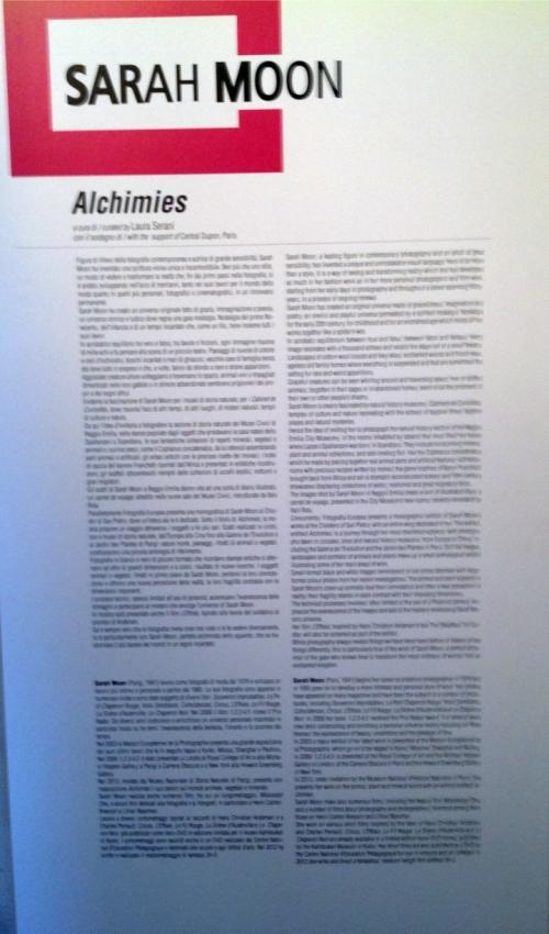 Sarah Moon Alchimie